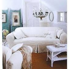 shabby chic sofa covers ashwell white denim sofa slipcover shabby chic cover