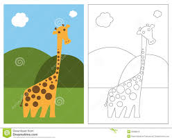 coloring page book giraffe royalty free stock image image