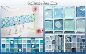 home decor mosaic tile bathroom kitchen removable 3d wallpaper