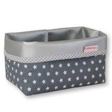 panier rangement chambre bébé panier de rangement gris avec étoiles chambre bébé