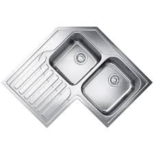 Inset Sinks Kitchen by Corner Sink Stainless Steel Befon For