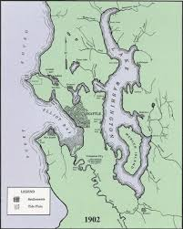 Map Of Seattle Wa by Hobart Washington A Landing A Day