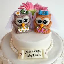birds wedding cake toppers custom same owl bird wedding cake toppers
