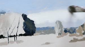how to paint a simple snowscene with acrylics u2013 video tutorial
