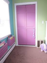 dazzling girls room color design idea using purple wall paint with