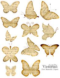 free butterfly clipart images distressed handwriting overlay