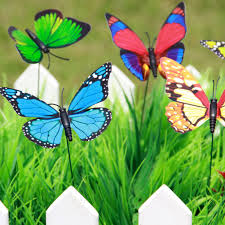 20pcs colorful flowerpot decor garden decoration butterfly garden