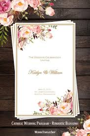 wedding church programs catholic church wedding program order of service templates