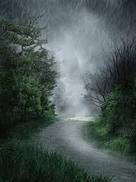 imagenes de paisajes lluviosos paisaje lluvioso stock de ilustración ilustración de camino 18572194