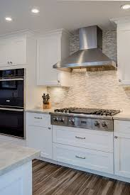 viking stainless steel hood white grey kitchen kitchen remodel