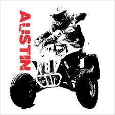 wall decal quad rider wall decal atv vinyl sticker decal 4