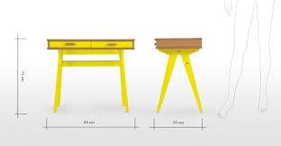 Mini Schreibtisch Mini Stroller Schreibtisch Für Kinder Eiche Und Gelb Made Com