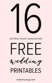 free wedding planning book 16 gorgeous and free printables for your wedding printable