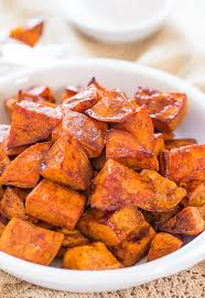 honey roasted sweet potatoes with honey cinnamon dip averie cooks