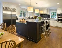 u shaped kitchen with island bench hood range bay window granite