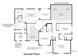 2nd Floor Plan Design Summit Estates At Westchester The Ellsworth Ii Home Design