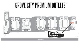 grove city outlet map grove city outlets map my
