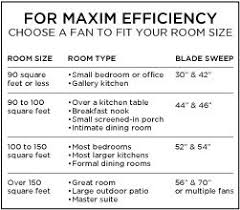 fan room size chart how to determine size of a ceiling fan theteenline org