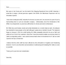ideas collection sample formal complaint letter about a coworker
