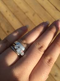 three ring ring stacks with three engagement rings show us pics