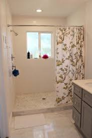 Shower Curtain For Single Stall - walk in shower with curtain instead of door google search