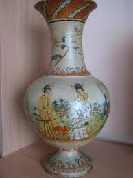 Clay Vase Painting Old Vase Hand Painted Clay