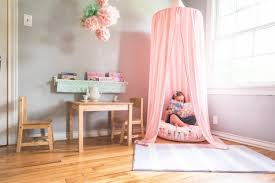 Pink Canopy Bed Play Tent Canopy Blush Pink Blue House Joys