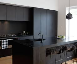 Matte Black Kitchen Cabinets A Matte Black Kitchen Makes A Bold Statement In This Auckland Villa
