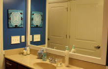 Wood Framed Bathroom Mirrors by Double Bathroom Mirrors With White Painted Oak Wood Frame Of