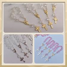baptism favors 24 mini rosaries approximately 4 baptism favors