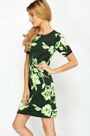 neon green flower dress just 5