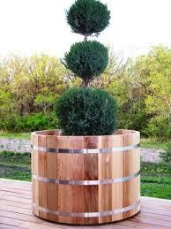 very large wood cedar planters landscaping pinterest cedar