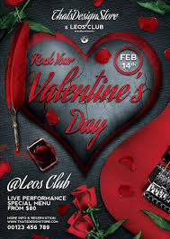 valentines flyer template rock your flyer template design for photoshop