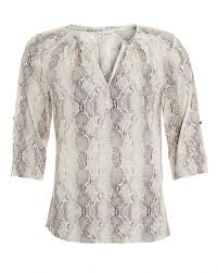 snake print blouse dea kudibal womens natalie blouse grey snake print top