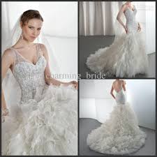 feather wedding dress 2013 luxury mermaid v neck feather wedding dresses ruffles