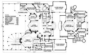 large house blueprints big floor plans modern 12 home plan 175 1073 floor plans social