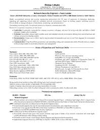 Resume Sample Technical Skills by Network Engineer Resume Sample Cisco Resume For Your Job Application