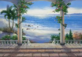 ocean view wall mural pr1813