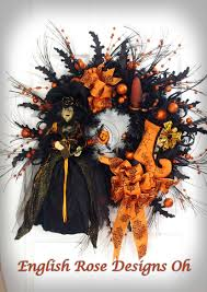 Etsy Halloween Wreath by X Large Halloween Wreath Witch Wreath Orange And Black Wreath