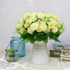 Imitation Plants Home Decoration Aliexpress Com Buy Artificial Flowers 15 Heads Simulation Silk