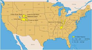 america map utah united states shale deposits map geology resources