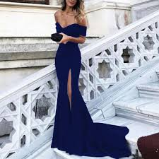 off shoulder mermaid prom dresses long formal evening gowns