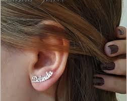 personalized name earrings name earrings etsy