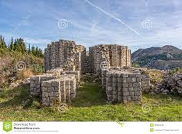 pre romanesque church ruins rotonda stock photo image 49234439
