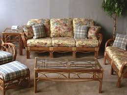 classic rattan wicker old floral cushion wicker furniture