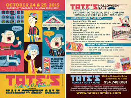 tate u0027s comics inc halloween sale u2013 back to the future theme