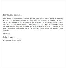 sample recommendation letter recommendation letter sample from