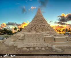sandi christmas tree sand castle west palm beach 2015