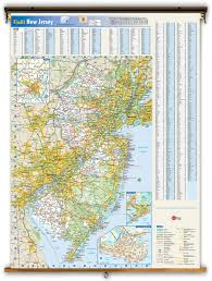 Map New Jersey New Jersey State Reference Wall Map From Geonova