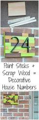 Cheap Curb Appeal - paint stick and scrap wood make a cheap and easy way to add some